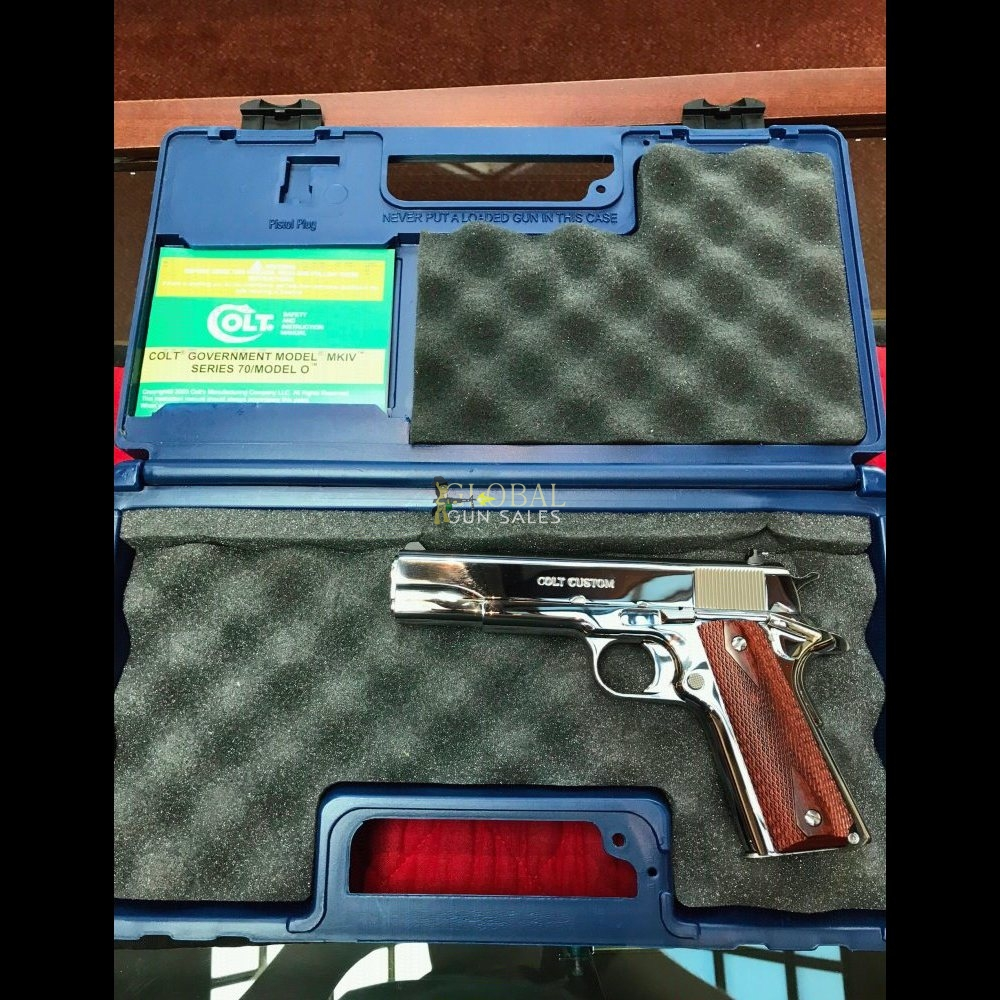 Colt Custom 1911 38 Super Bright Stainless Steel