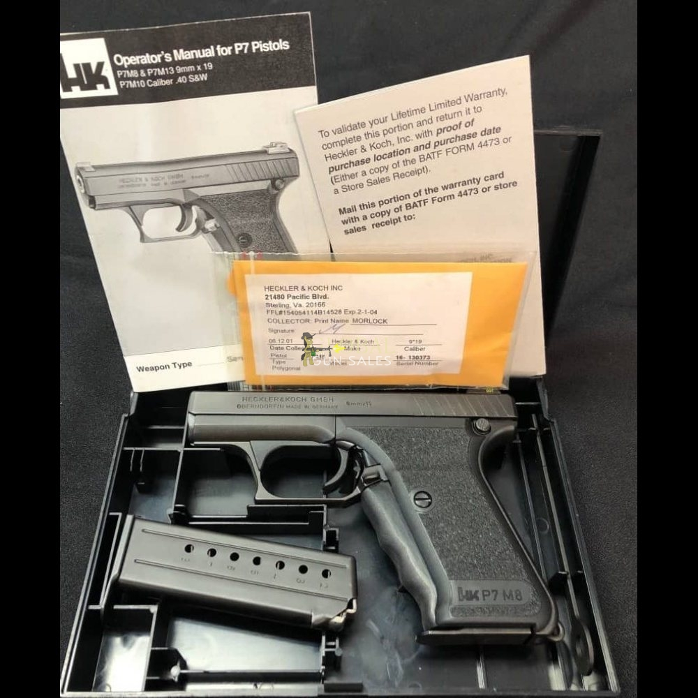 Heckler & Koch H&K P7 M8 Squeeze Cocker Pistol - New in Box 9x19