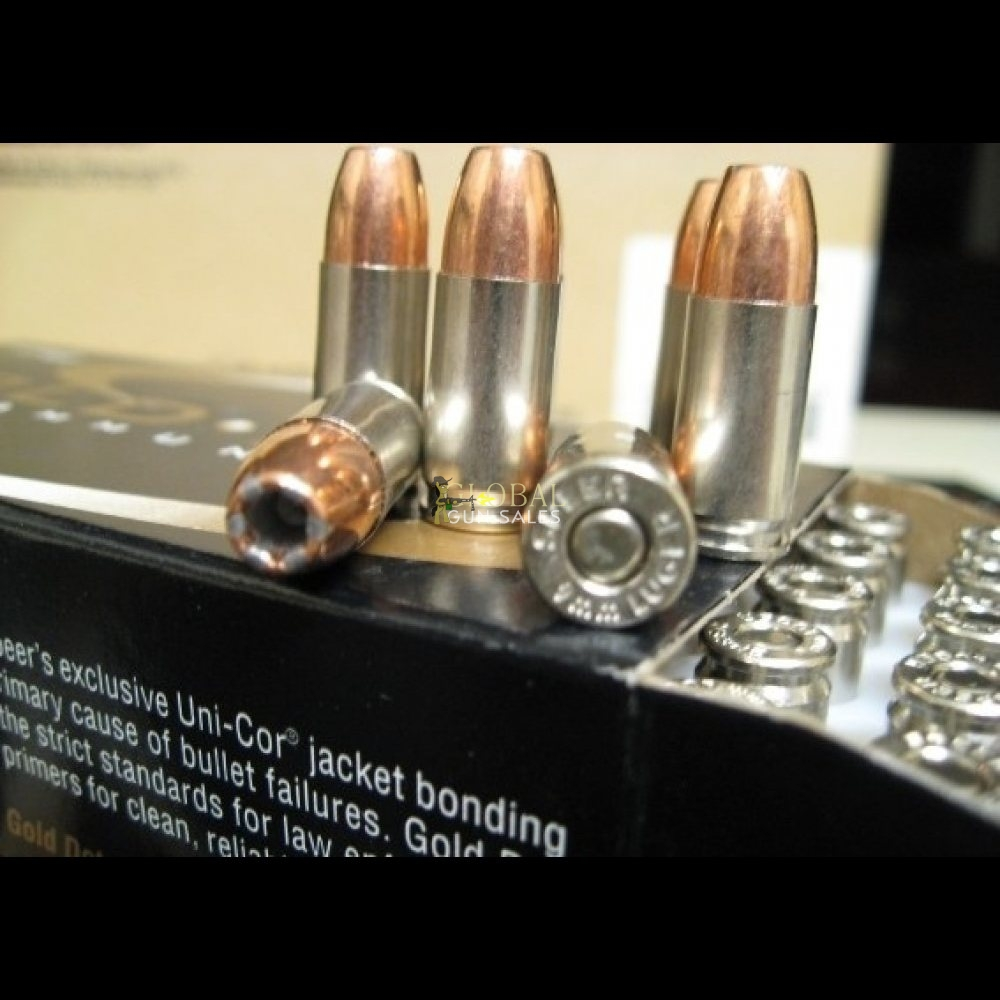 9MM 147 GR. GOLD DOT 500 RDS