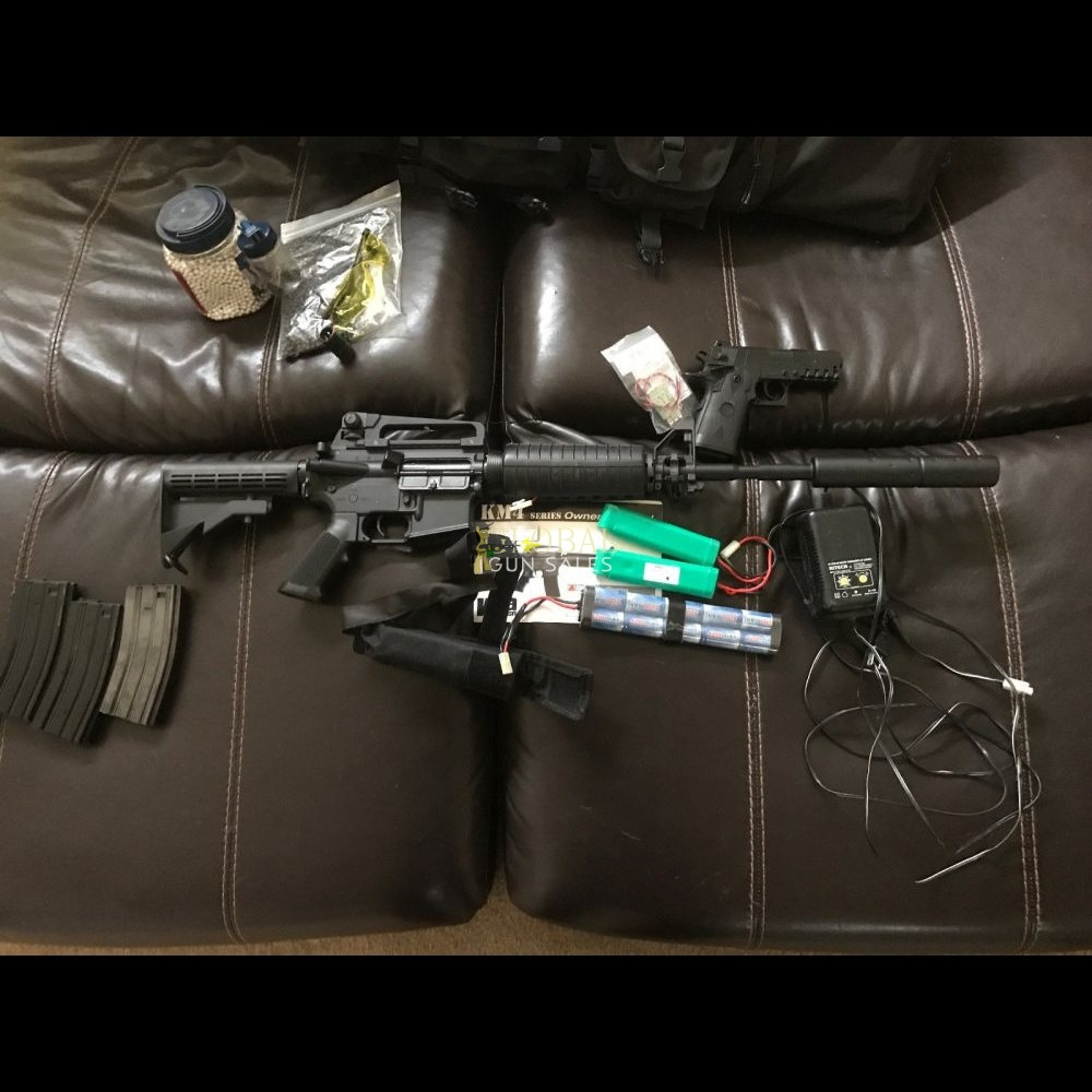 KWA Full Metal KM4 lots of extras