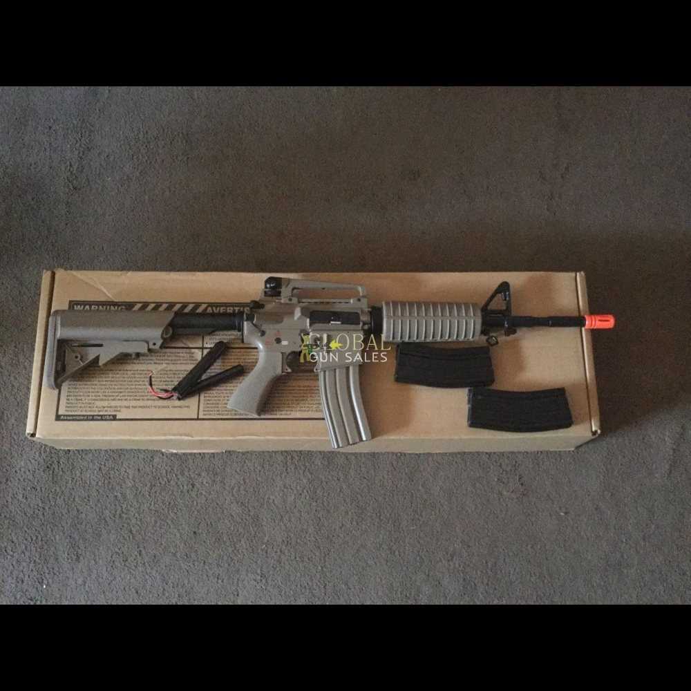 G&G FULL METAL M4 CARBINE AIRSOFT GUN W/ CRANE STOCK AEG RIFLE