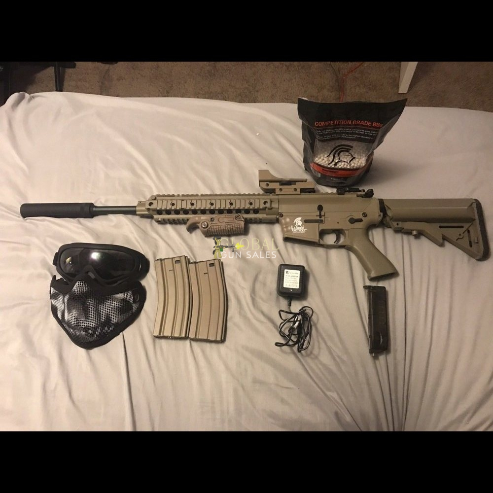 Lancer Tactical M4 AEG Airsoft Rifle Bundle