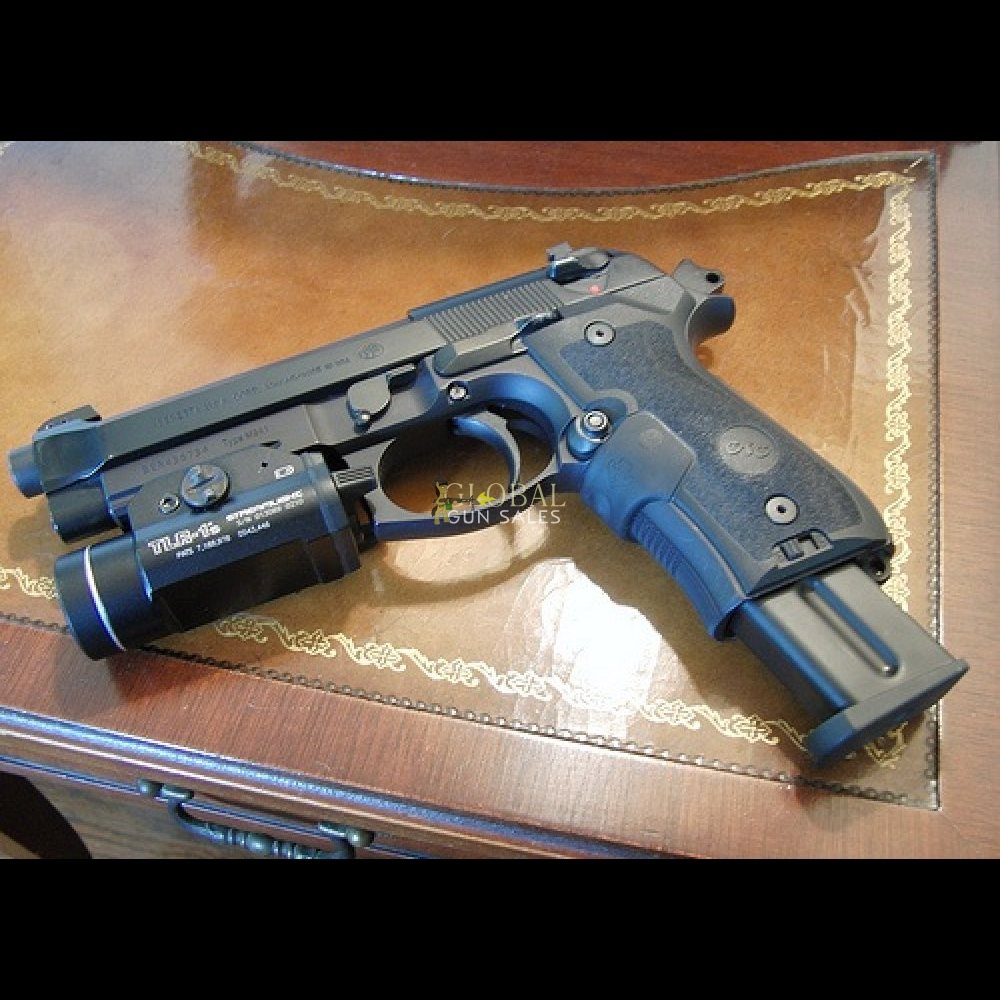 Beretta M9A1 w/light/ CT laser grips