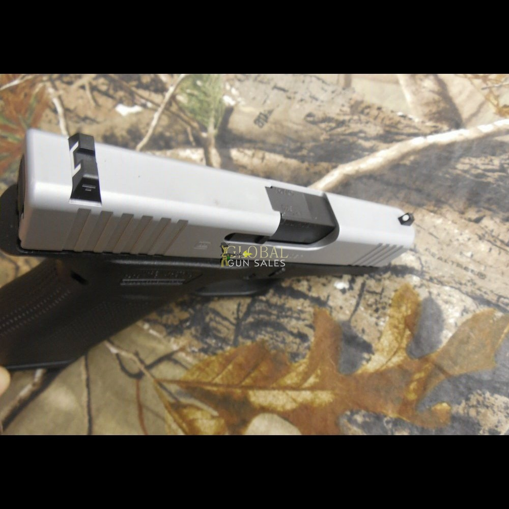 GLOCK G-43X, 9-MM, 2- 10 + 1 ROUND MAGAZINES, SILVER SLIDE, BLACK FRAME, WHITE SIGHTS, FACTORY NEW IN BOX